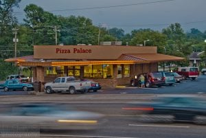 pizza palace road front view
